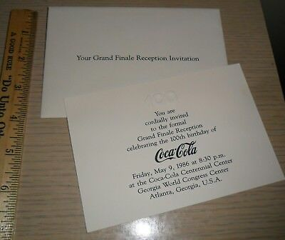 Coca-Cola ~ 100th Year Pamphlet ~ Centennial Grand Finale Reception Invitation