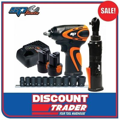 """SP Tools Lithium-Ion 12V 2.0Ah 3/8""""Dr 2 Piece Wrench Ratchet Kit - SP82144"""