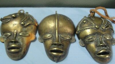 Vintage Bronze Brass Handmade African MASK FACE Ethnic TRIBAL HEAD