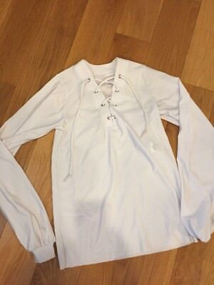 Curtain Call Dance Boys Lyrical Ballet White Long Sleeve Shirt Size Large Child