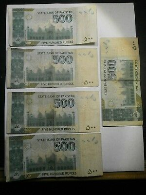 5 State Bank Of Pakistan 500 Rupees