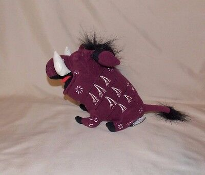 Disney The Lion King Broadway Musical PUMBAA stuffed plush 9""
