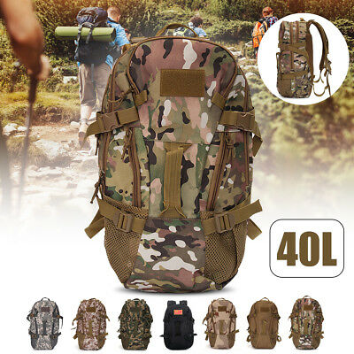 40L Military Tactical Army Rucksack Molle Backpack Camping Hiking Bag Travel