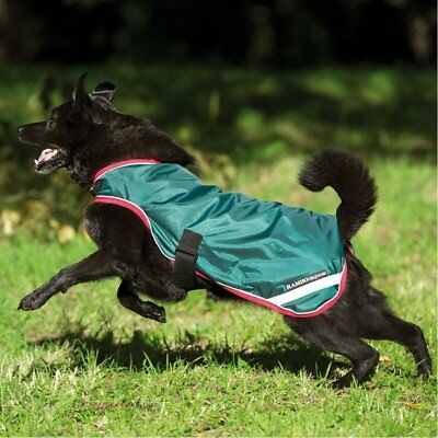 Rambo Waterproof Unisex Pet Accessory Dog Jacket - Green Red All Sizes