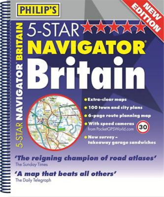 Philips 5-Star Navigator Britain 2013: Spiral (Philips Atlas), Philips, Used; Go