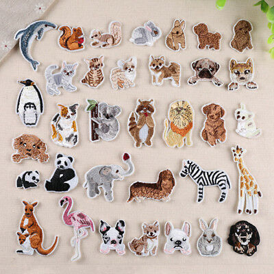 10/1pc Mini Animal Embroidered Iron on Patch Subsidies DIY Decor Badge Appliques