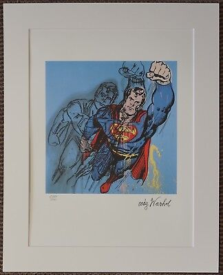Andy Warhol 'Superman' Signed Limited Edition 2384/5000 pcs.