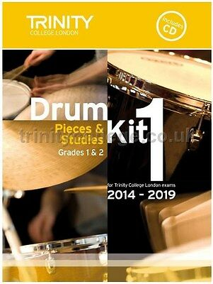Trinity College Drum Kit 1 with CD Grades 1+2 2014-2019 - Same Day P+P