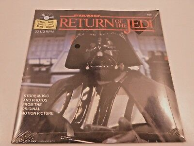 Vintage 1983 STAR WARS Return of the Jedi Read Along Book & Record SEALED - NOS