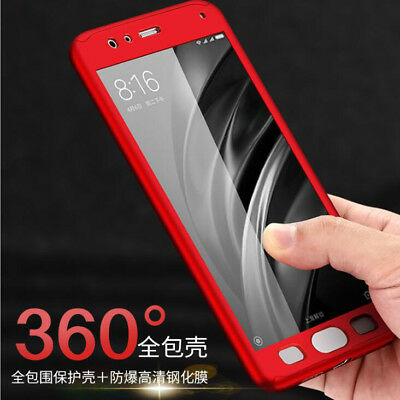 For Xiaomi Mi8 A2 Lite 6X S2 Full Cover Hybrid Shockproof Case + Tempered Glass
