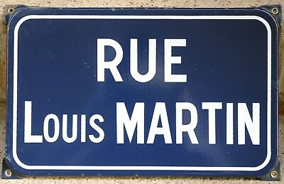 Old French enamel steel street sign plaque road plate Louis Martin Chauffailles