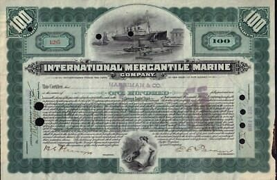 International Mercantile Marine 1916 (Titanic Owners ) iss to Harriman & Co