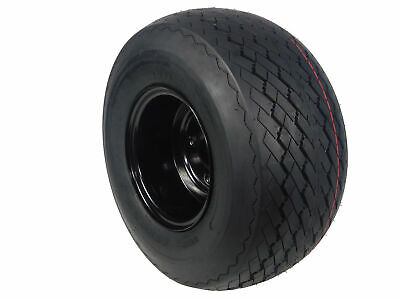 MASSFX Single Wheel and Tire Combo 18x8.5-8 Golf Cart Tire with Black 4/4 Rim