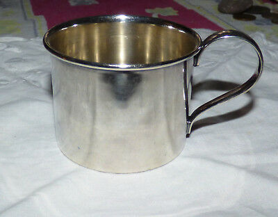 Antique Silverplate Watrous Mfg Co 033 Baby Child Cup Monogrammed