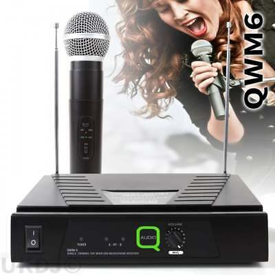 Q-Audio QWM6 Single Channel VHF Wireless Radio Microphone QWM 6 Mic Handheld