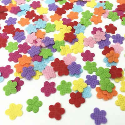 200pcs Felt Appliques Mixed Colors Flowers Cardmaking decoration Craft 12mm