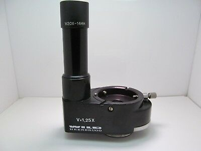 Wild Heerbrugg Microscope V=1.25X Photo Tube Eyepiece Optic Swiss NR!