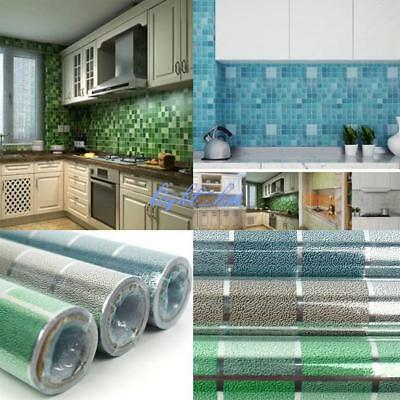 Mosaic Wall Sticker Waterproof Kitchen Self Adhesive Paper Tile Floor Bathroom Z
