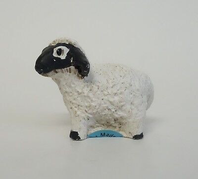 PETER FAGAN VINTAGE SHEEP LAMB MINIATURE FIGURINE Hand Painted W/ LABEL Scotland