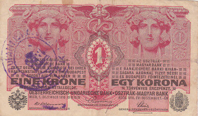 1 Korona/kronen Fine Note1919 With A  Stamp From Shs Kingdom/osijek!