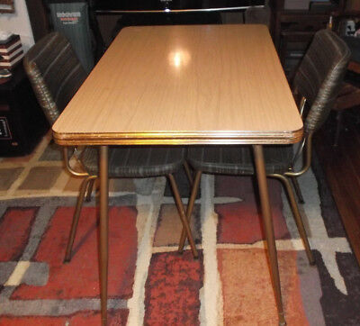 Chromcraft Mid Century Small Breakfast Set Table Chairs