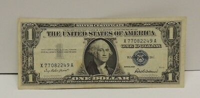 .United States $1 Silver Certificate 1957 Priest/Anderson Serial #X77082249