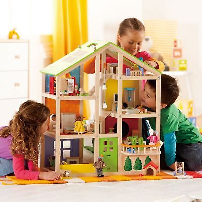 Hape All Seasons Dollhouse Unfurnished