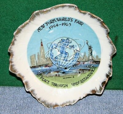 Vintage 1964-1965 New York World's Fair Unisphere Display Plate 1961 US Steel