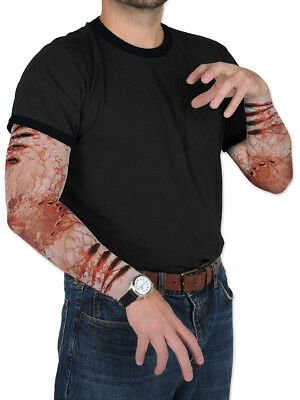 Adults Zombie Bite Scratches Wounds Arm Sleeves Party Costume Accessory