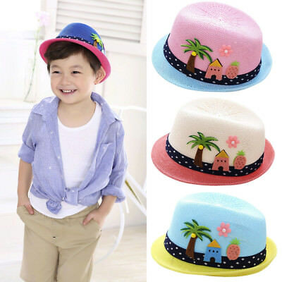 Summer Baby Boy Girls Hat Beach Sun Cap Children Breathable Hat Show Kids Caps
