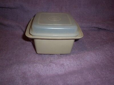 Vintage Tupperware Square Container Butter Or Jam Etc Dish & Lid