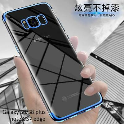 Transparent Hybrid Shockproof Plating Soft Case Cover for Samsung Galaxy S9 Plus