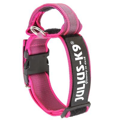 Julius K9 Collare Cani Collarino 50 mm 49-70 cm Nylon Rosa 200HA-K-PN-2015