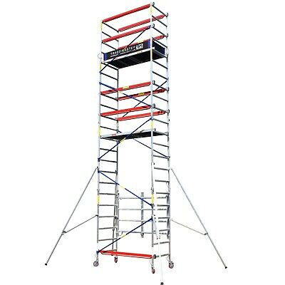 Trade Master Folding Aluminium Scaffold Tower/Towers 3.2m-9.1m Next Day Del!