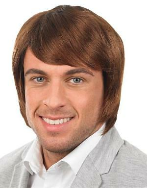 Brown Boy Band Wig Short Style Fancy Dress Accessory
