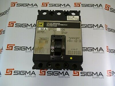 SQUARE D FAL34050 Circuit Breaker 50Amp 3Pole