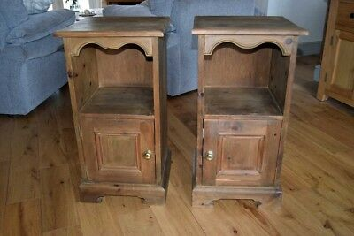 Pair of Antique Pine Cupboards / Bedside Cabinets - 4 PAIRS Of Antique Pine Paneled Shutters - £400.00 PicClick UK