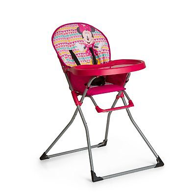 Hauck Disney Baby MacBaby Folding Metal Highchair with Minnie Geo Print, Pink