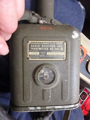 GALVIN signal Corp WW II pogo stick receiver-transmitter BC-745-B untested