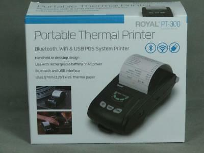 Royal PT-300 Portable Thermal Printer with Bluetooth, Wifi, USB POS System