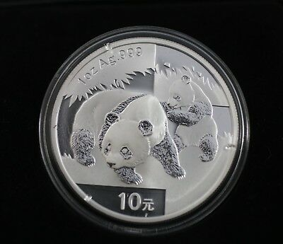 2008 SILVER PANDA -- .999 SILVER 1 oz. BULLION COIN -- VERY NICE!