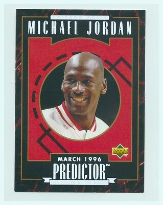 1995-96 Upper Deck Prize Predictor Player of the Month R4 Michael Jordan SELTEN