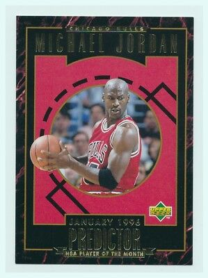 1995-96 Upper Deck Redemption Predictor Player of the Month R2 Michael Jordan