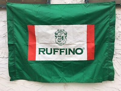 2 Two Vintage Ruffino Wine Chianti Banner Flag Italy Italian Tuscany Un Used