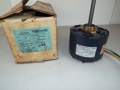 New Ao Smith 1/8 Hp Direct Drive Blower Motor 115V1050 Rpm 3-Speed Fdc1006..I96