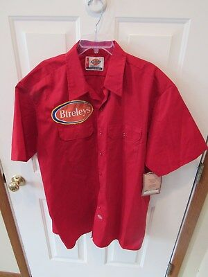 Vintage Bireley's Orange Soda Pop Nwt Dickies Shirt Men's Sz 2Xl Original Patch