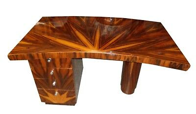Terific Art-Deco style Desk insuperbly veined  Rosewood