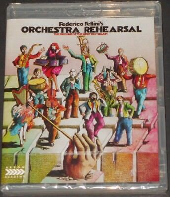 ORCHESTRA REHEARSAL usa blu-ray NEW SEALED federico fellini ARROW ACADEMY 2018
