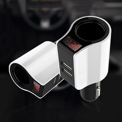 Dual USB Ports Car Cigarette Lighter LCD Digital Voltage Meter Voltmeter Charger