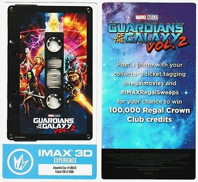 "LOT OF 2 ""The LEGO Batman Movie"" IMAX Collectible Tickets Regal ..."